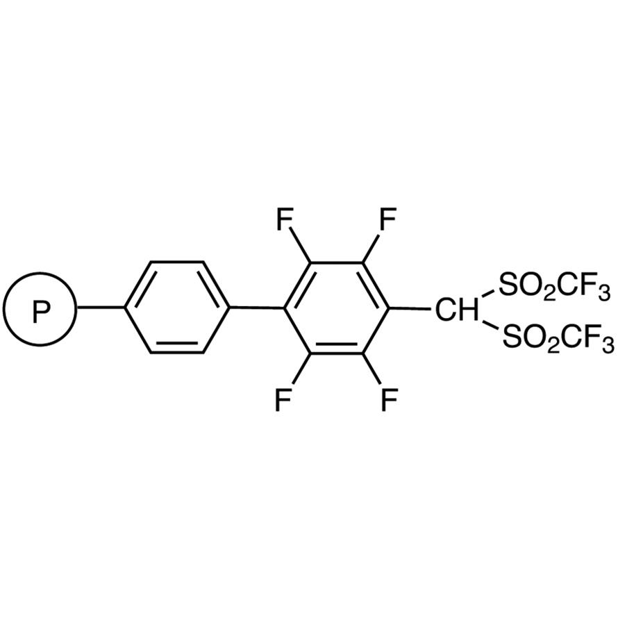Bis(trifluoromethanesulfonyl)methyltetrafluorophenyl Polystyrene Resin cross-linked with 2% DVB (200-400mesh) (0.9-1.2mmol/g)