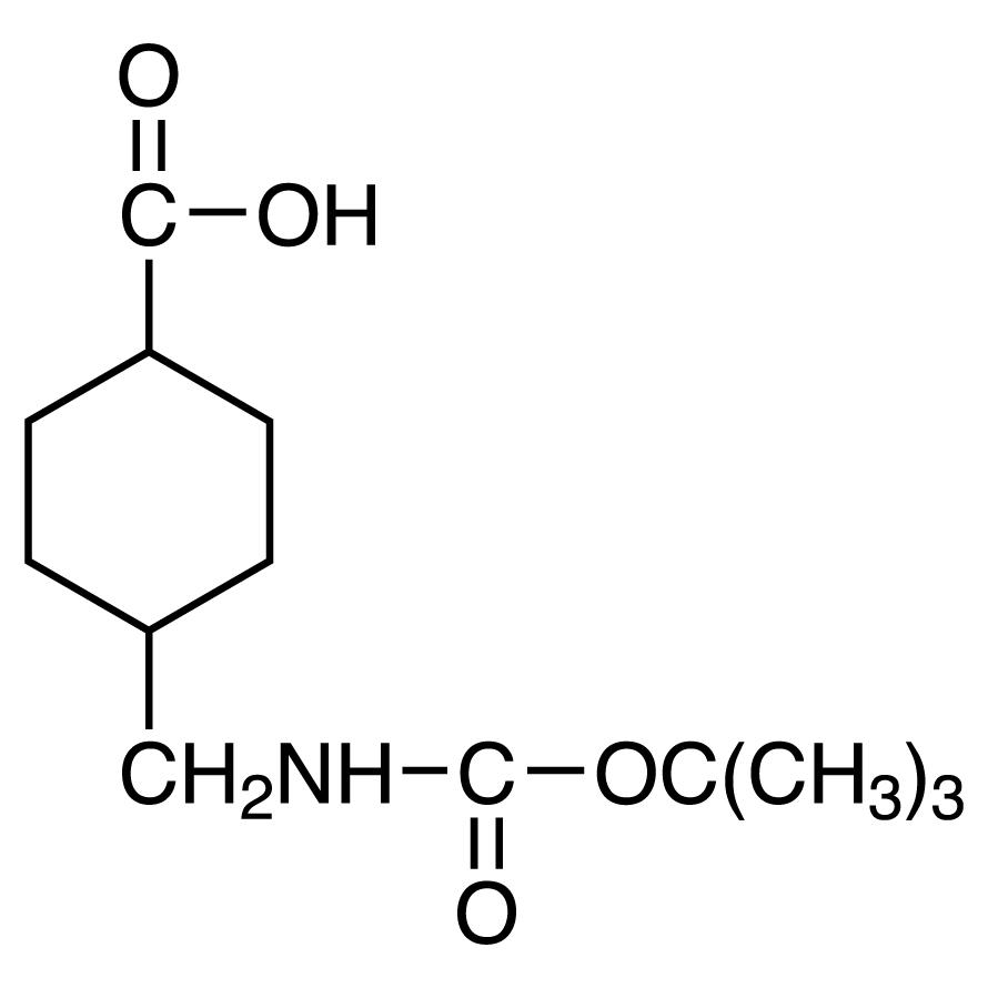 4-(tert-Butoxycarbonylaminomethyl)cyclohexanecarboxylic Acid (cis- and trans- mixture)