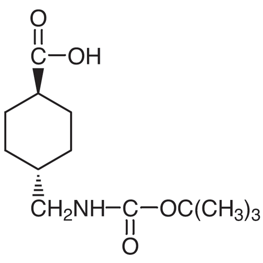 trans-4-(tert-Butoxycarbonylaminomethyl)cyclohexanecarboxylic Acid