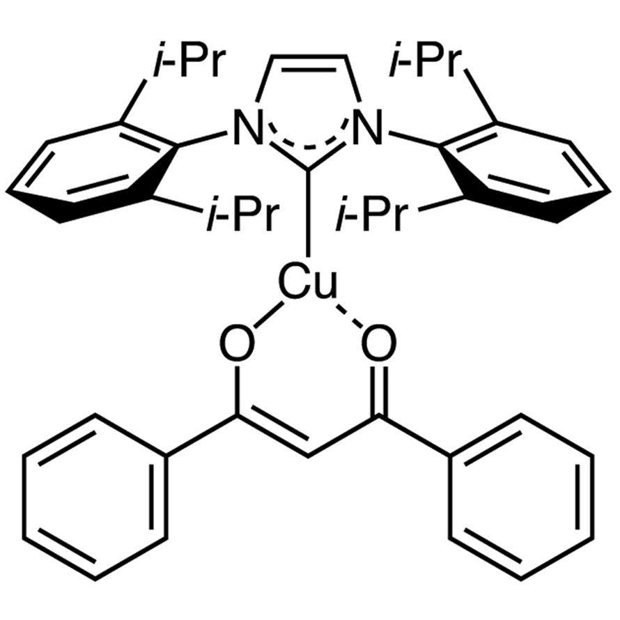 [1,3-Bis(2,6-diisopropylphenyl)imidazol-2-ylidene](1,3-diphenyl-1,3-propanedionato)copper(I)