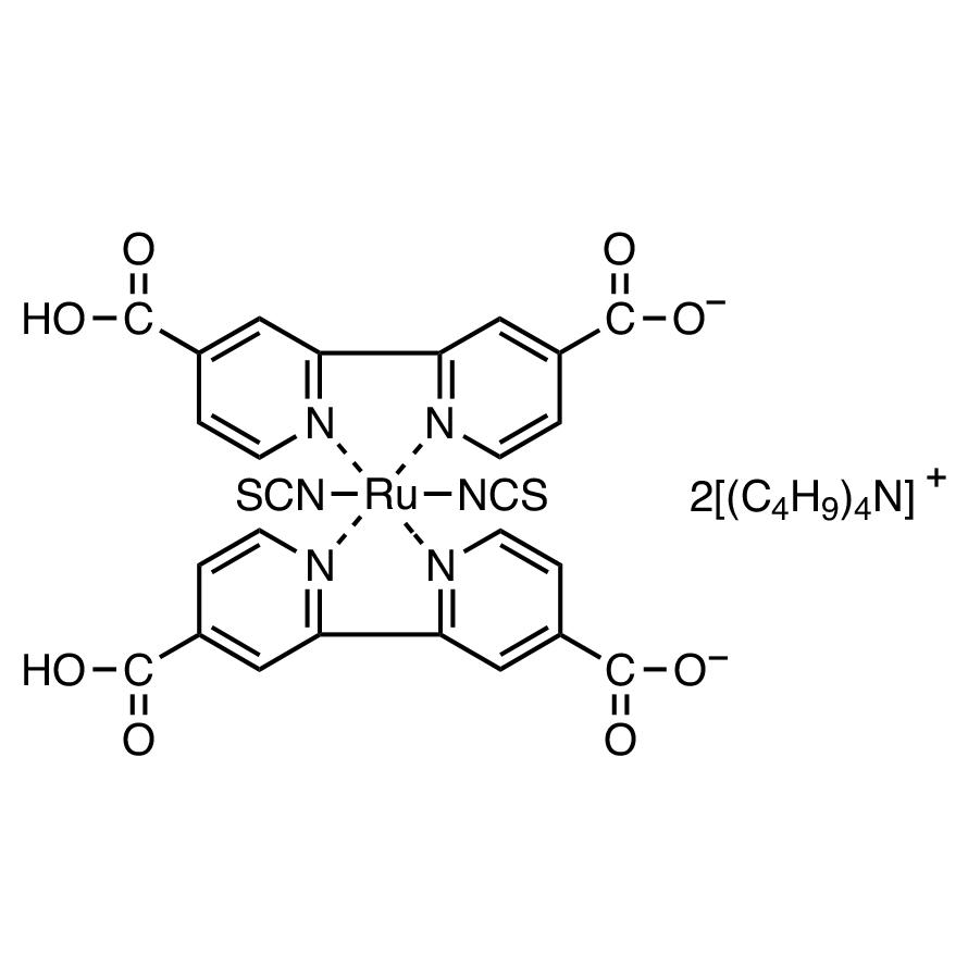 Bis(tetrabutylammonium) Dihydrogen Bis(isothiocyanato)bis(2,2'-bipyridyl-4,4'-dicarboxylato)ruthenium(II)