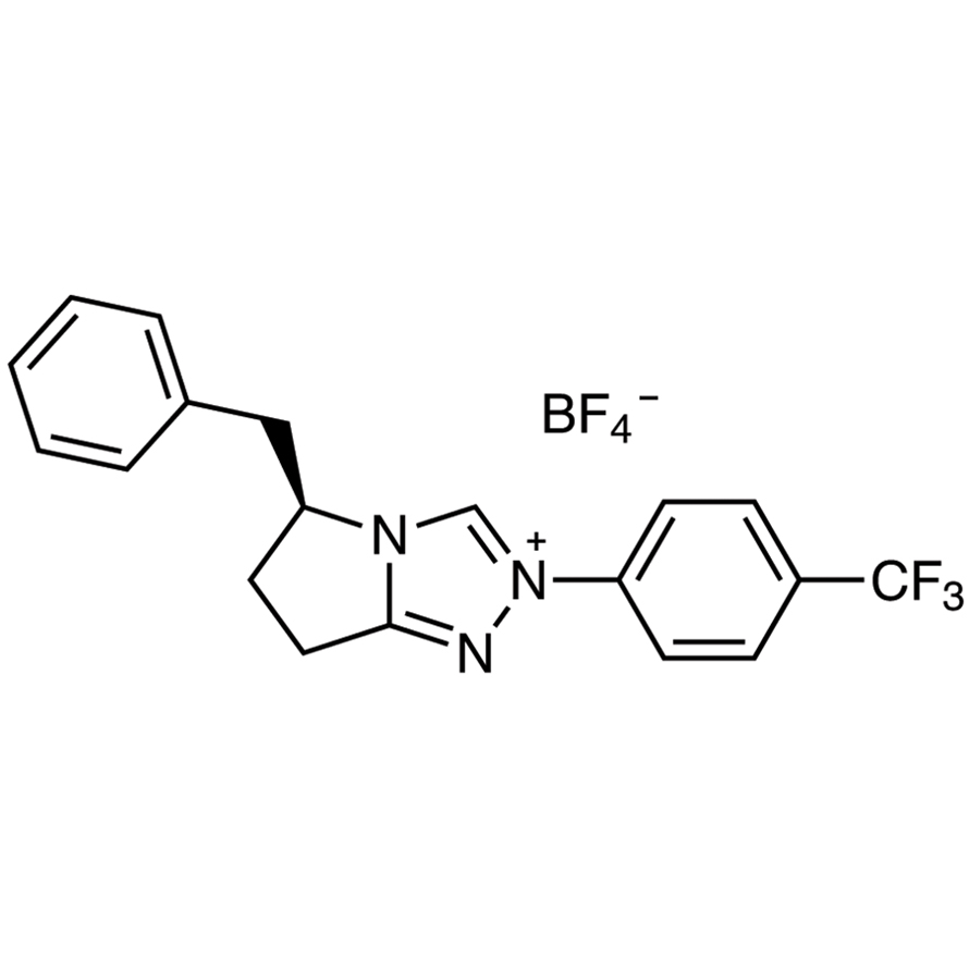 (S)-Benzyl-2-[4-(trifluoromethyl)phenyl]-6,7-dihydro-5H-pyrrolo[2,1-c][1,2,4]triazolium Tetrafluoroborate