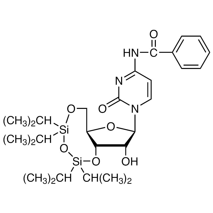 N4-Benzoyl-3',5'-O-(1,1,3,3-tetraisopropyl-1,3-disiloxanediyl)cytidine