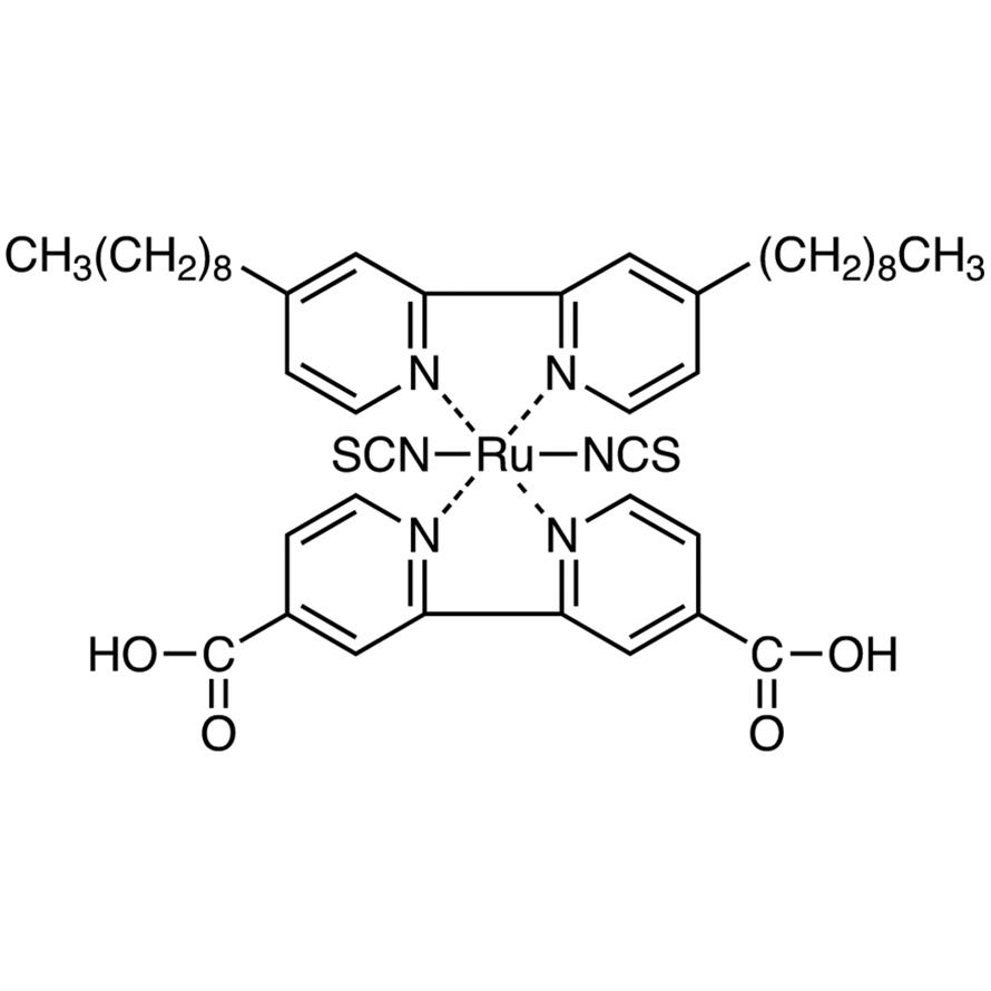 Bis(isothiocyanato)(2,2'-bipyridyl-4,4'-dicarboxylato)(4,4'-dinonyl-2,2'-bipyridyl)ruthenium(II)