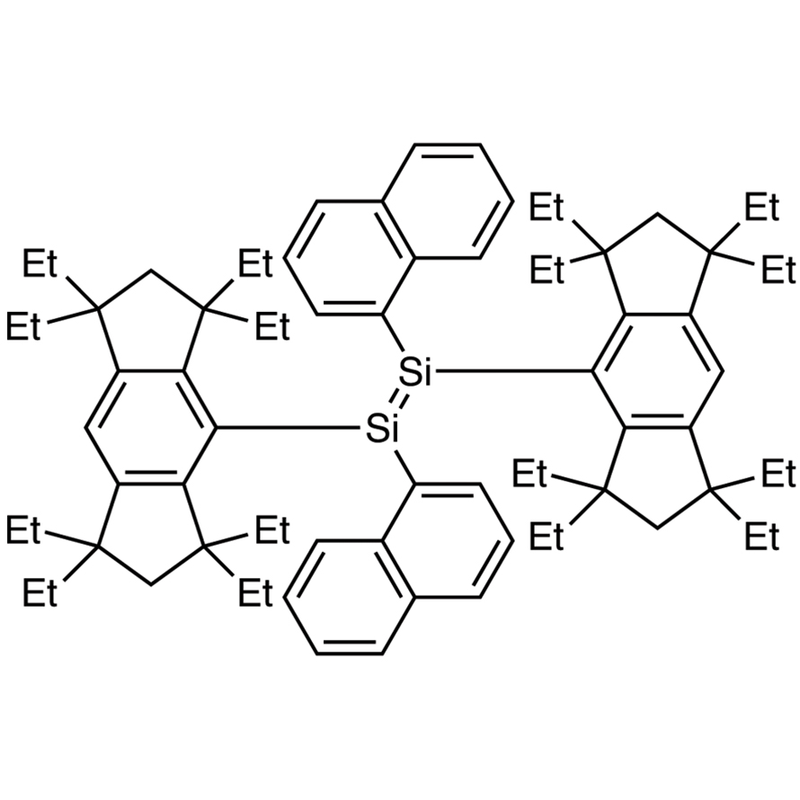 (E)-1,2-Bis(1-naphthyl)-1,2-bis(1,1,3,3,5,5,7,7-octaethyl-1,2,3,5,6,7-hexahydro-s-indacen-4-yl)disilene