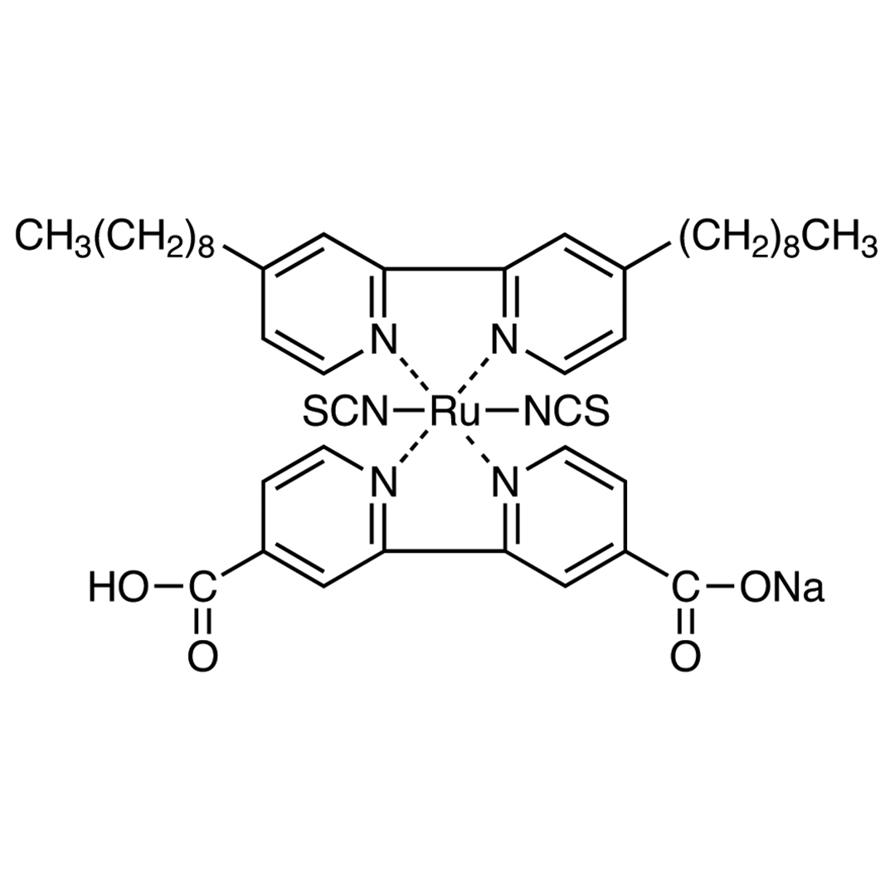 Bis(isothiocyanato)(2,2'-bipyridyl-4,4'-dicarboxylato)(4,4'-dinonyl-2,2'-bipyridyl)ruthenium(II) Sodium Salt