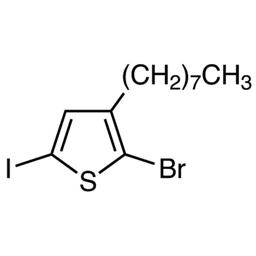 2-Bromo-5-iodo-3-n-octylthiophene (stabilized with Copper chip)