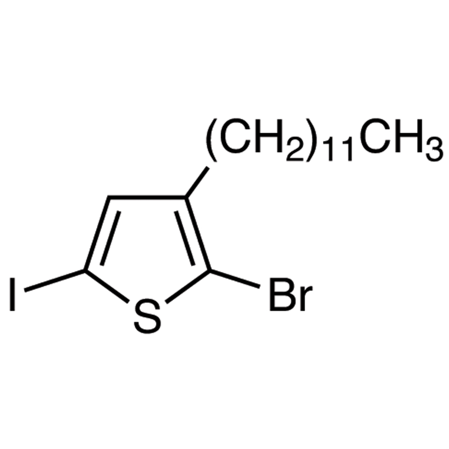 2-Bromo-3-dodecyl-5-iodothiophene (stabilized with Copper chip)
