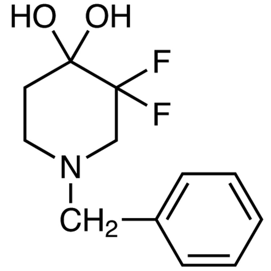 1-Benzyl-3,3-difluoropiperidine-4,4-diol