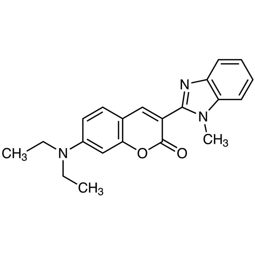 7-(Diethylamino)-3-(1-methyl-2-benzimidazolyl)coumarin