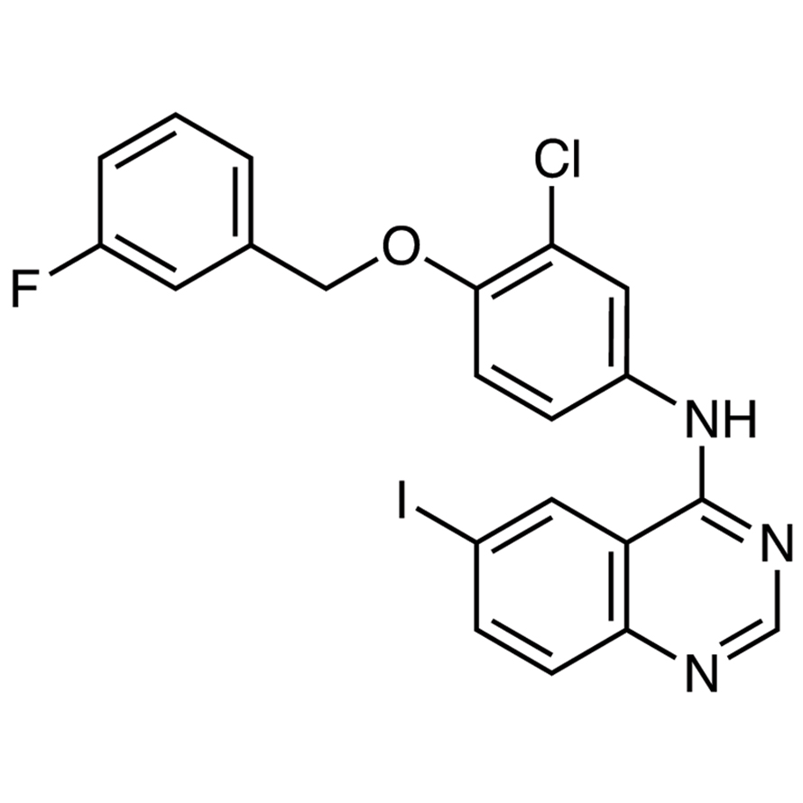 4-[3-Chloro-4-(3-fluorobenzyloxy)phenylamino]-6-iodoquinazoline
