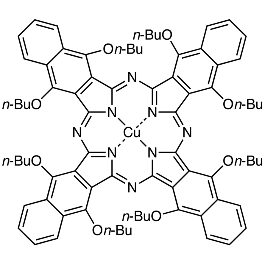 Copper(II) 5,9,14,18,23,27,32,36-Octabutoxy-2,3-naphthalocyanine