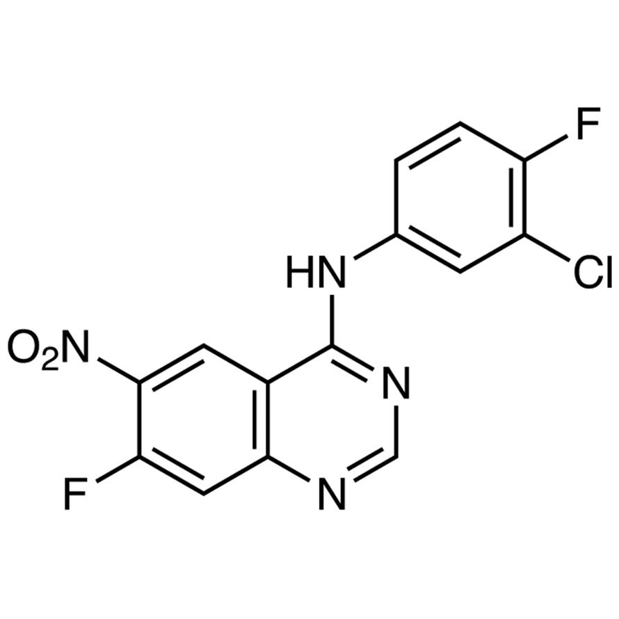 N-(3-Chloro-4-fluorophenyl)-7-fluoro-6-nitro-4-quinazolinamine