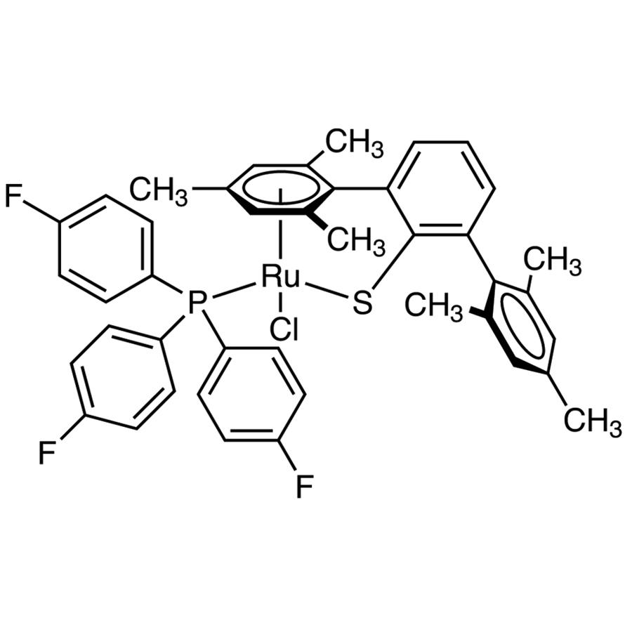 Chloro[(1,2,3,4,5,6-)-2,2'',4,4'',6,6''-hexamethyl[1,1':3',1''-terphenyl]-2'-thiolato-S][tris(4-fluorophenyl)phosphine-P]ruthenium(II)