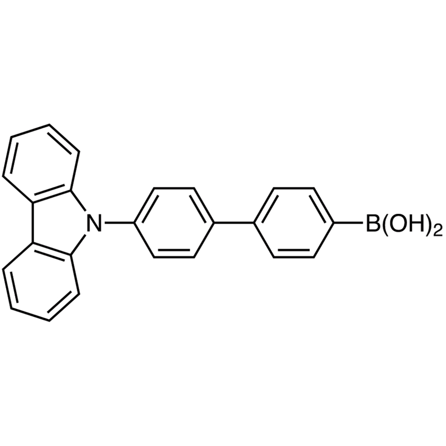 [4'-(Carbazol-9-yl)-4-biphenylyl]boronic Acid (contains varying amounts of Anhydride)