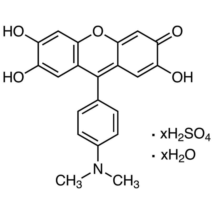 9-(4'-Dimethylaminophenyl)-2,6,7-trihydroxyfluorone Sulfate Hydrate