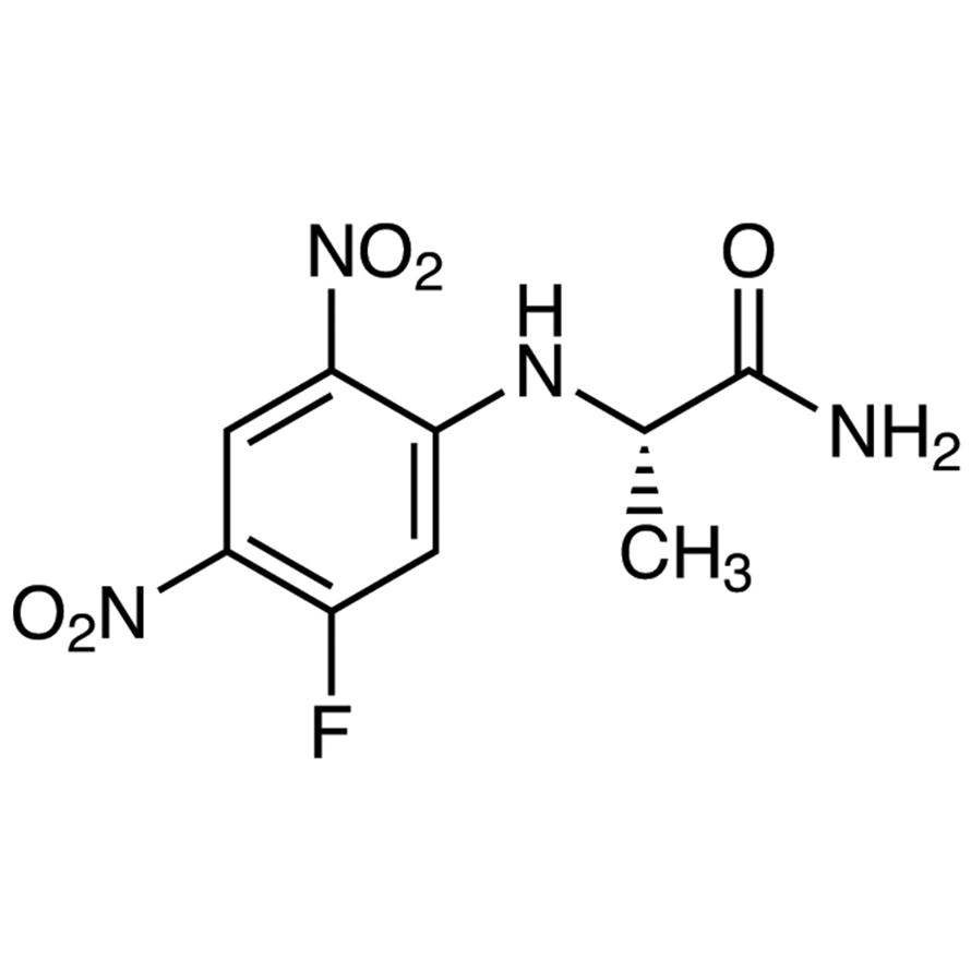 N-(5-Fluoro-2,4-dinitrophenyl)-L-alaninamide [HPLC Labeling Reagent for e.e. Determination]