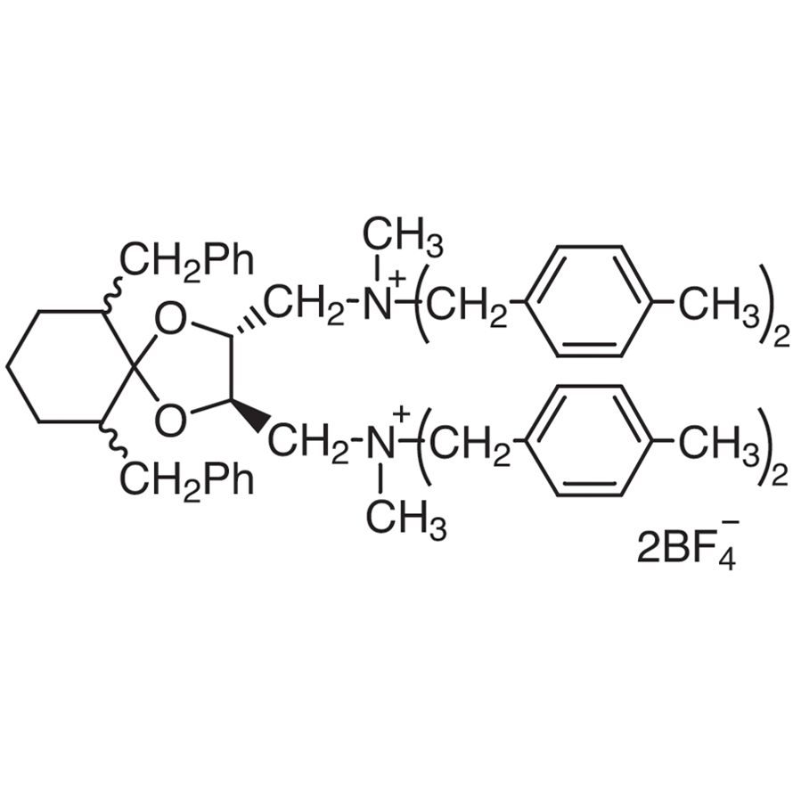 6,10-Dibenzyl-N,N'-dimethyl-N,N,N',N'-tetrakis(4-methylbenzyl)-1,4-dioxaspiro[4.5]decane-(2R,3R)-diylbis(methylammonium) Bis(tetrafluoroborate) [=(R,R)-TaDiAS-2nd]