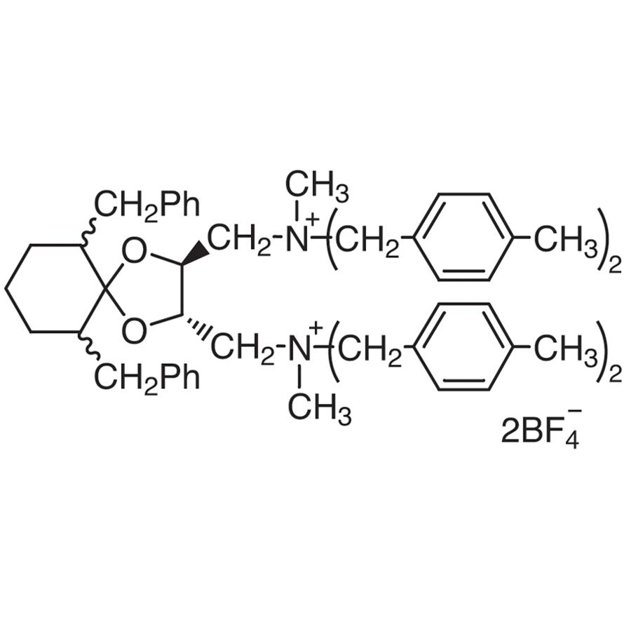 6,10-Dibenzyl-N,N'-dimethyl-N,N,N',N'-tetrakis(4-methylbenzyl)-1,4-dioxaspiro[4.5]decane-(2S,3S)-diylbis(methylammonium) Bis(tetrafluoroborate) [=(S,S)-TaDiAS-2nd]
