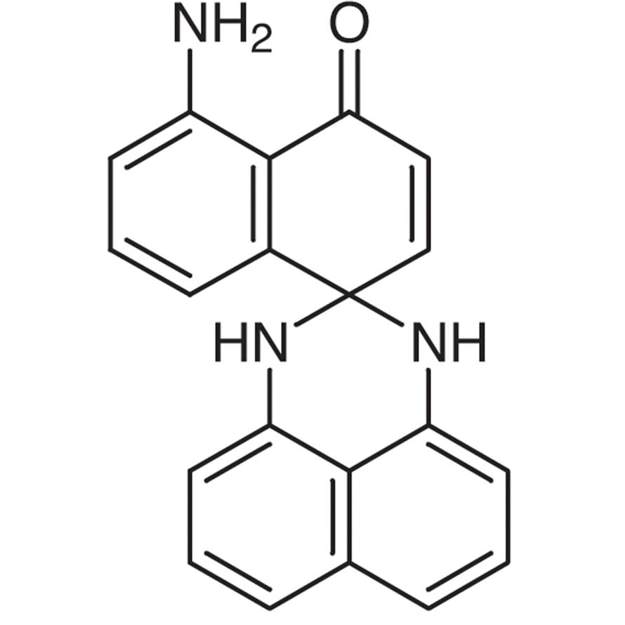 2,3-Dihydro-2-spiro-4'-[8'-aminonaphthalen-1'(4'H)-one]perimidine (contains o-form)