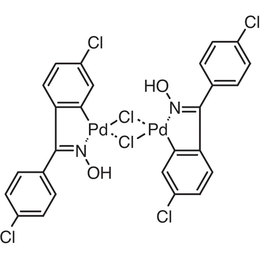 Di-μ-chlorobis[5-chloro-2-[(4-chlorophenyl)(hydroxyimino)methyl]phenyl]palladium(II) Dimer