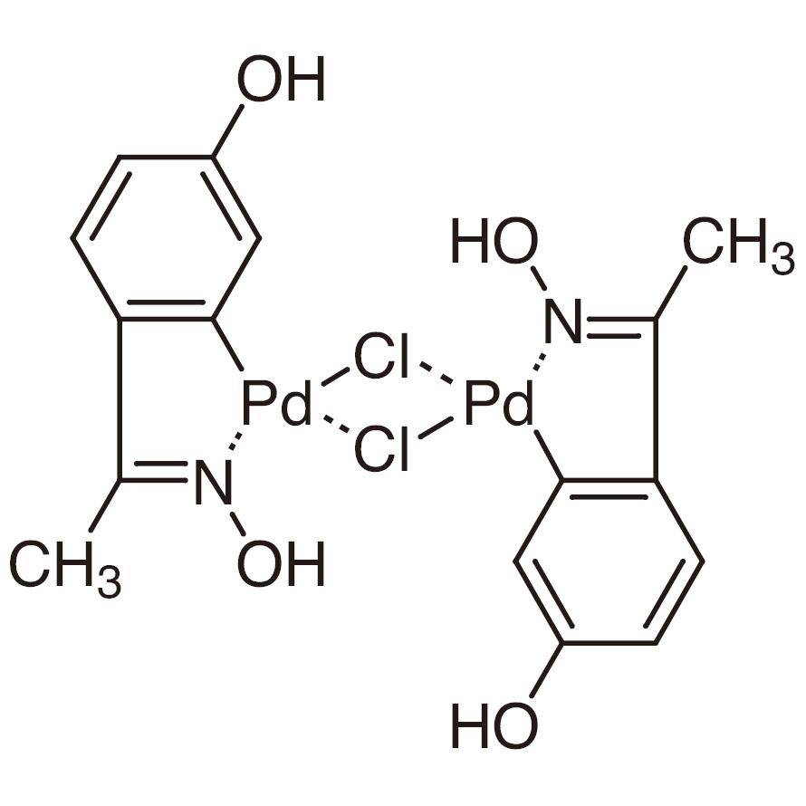 Di-μ-chlorobis[5-hydroxy-2-[1-(hydroxyimino)ethyl]phenyl]palladium(II) Dimer