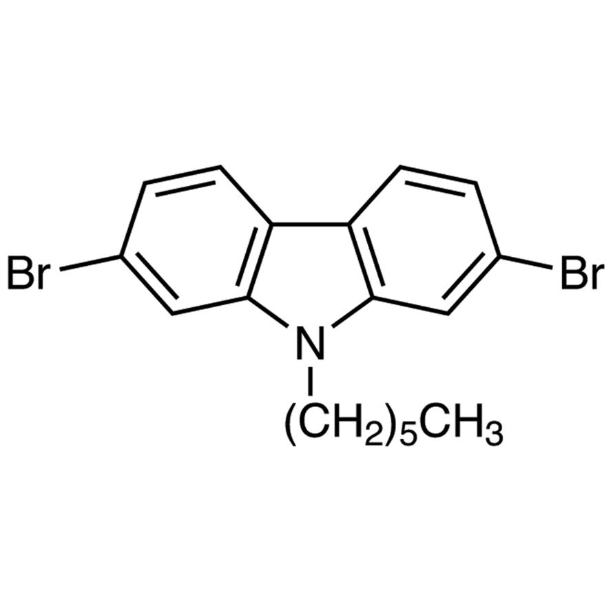 2,7-Dibromo-9-hexylcarbazole