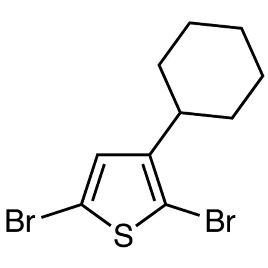 2,5-Dibromo-3-cyclohexylthiophene
