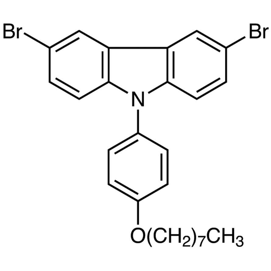 3,6-Dibromo-9-(4-n-octyloxyphenyl)-9H-carbazole