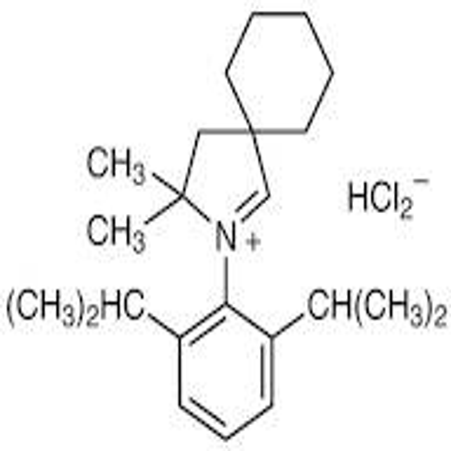 2-(2,6-Diisopropylphenyl)-3,3-dimethyl-2-azaspiro[4.5]dec-1-en-2-ium Hydrogen Dichloride