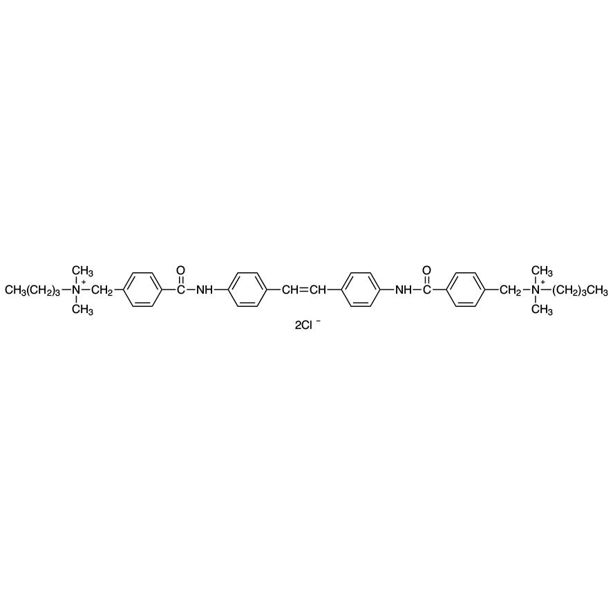 4,4'-[1,2-Ethenediylbis(4,1-phenyleneiminocarbonyl)]bis(N-butyl-N,N-dimethylbenzenemethanaminium) Dichloride
