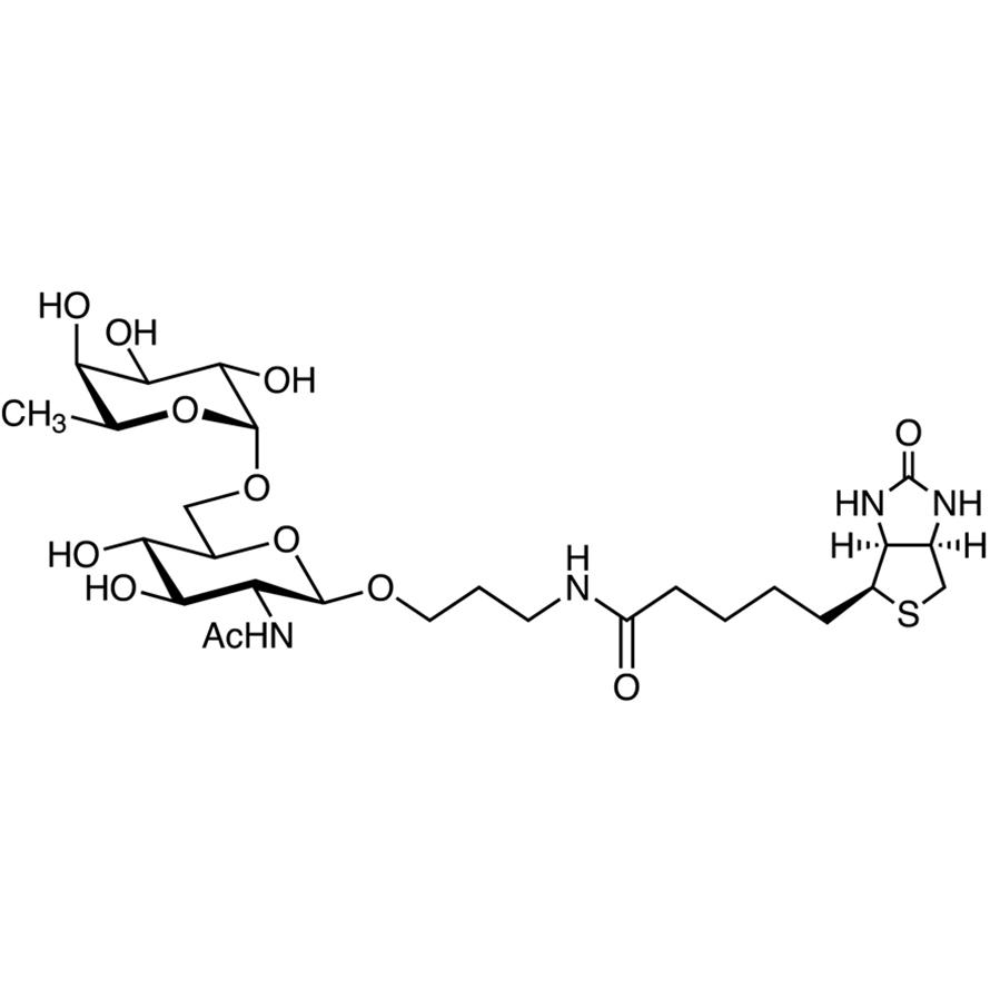 Fuc(1-6)GlcNAc--propylamido-biotin