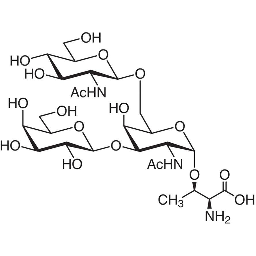 Gal(1-3)[GlcNAc(1-6)]GalNAc--Thr