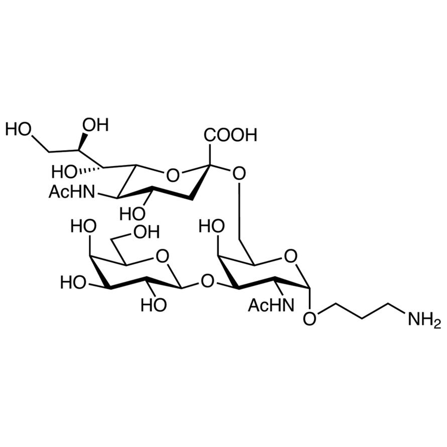 Gal(1-3)[Neu5Ac(2-6)]GalNAc--propylamine