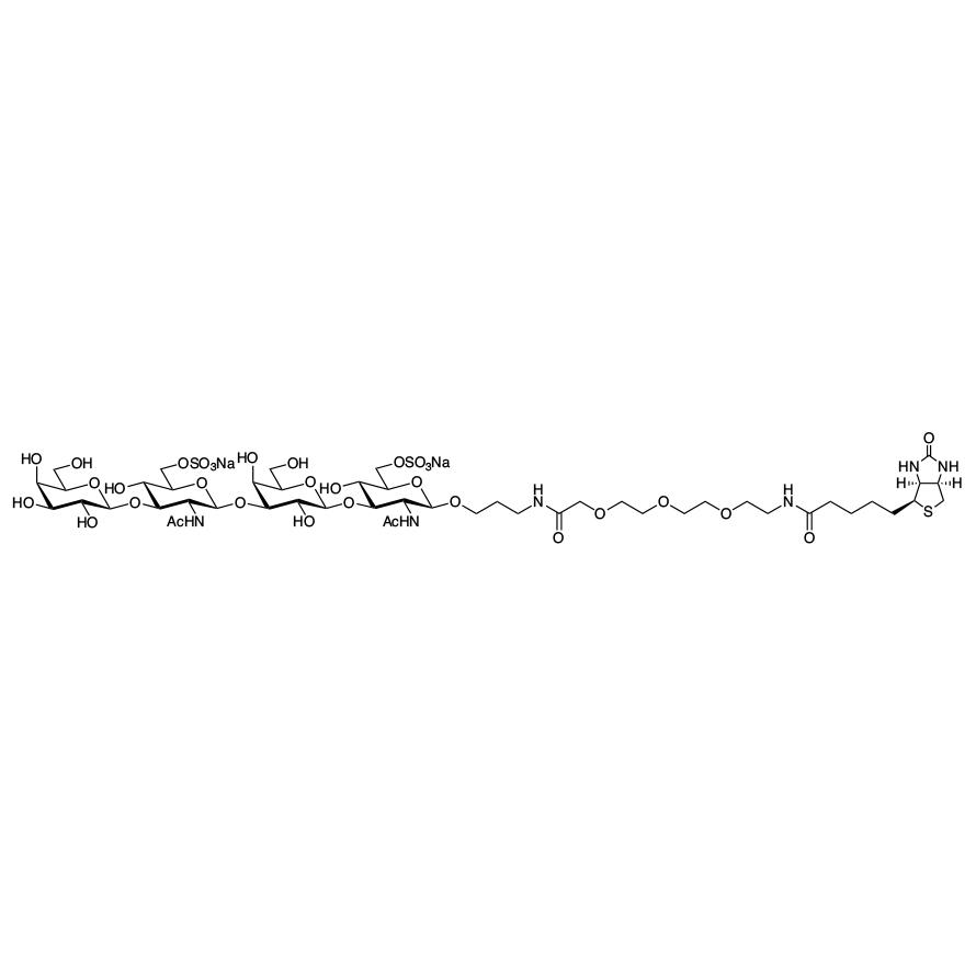 Gal(1-3)GlcNAc[6S](1-3)Gal(1-3)GlcNAc[6S]--PEG3-biotin