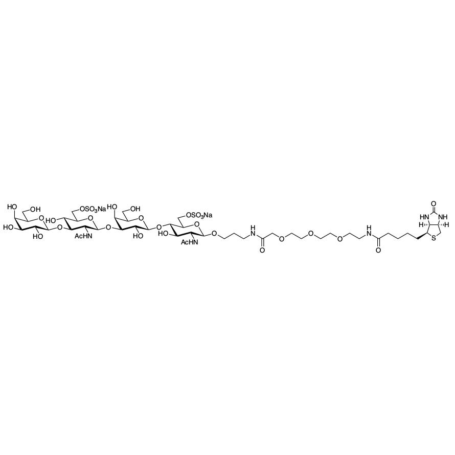 Gal(1-3)GlcNAc[6S](1-3)Gal(1-4)GlcNAc[6S]--PEG3-biotin