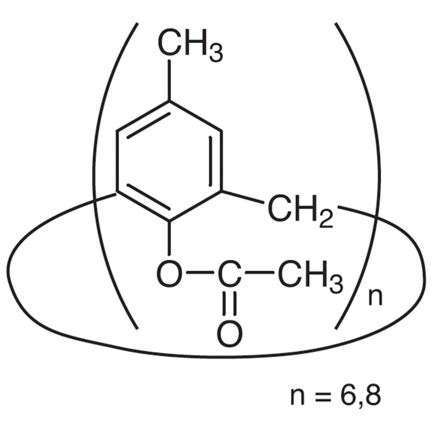 4-Methyl-1-acetoxycalixarene [mixture of [6] and [8]] (contains 5-10% Acetone)