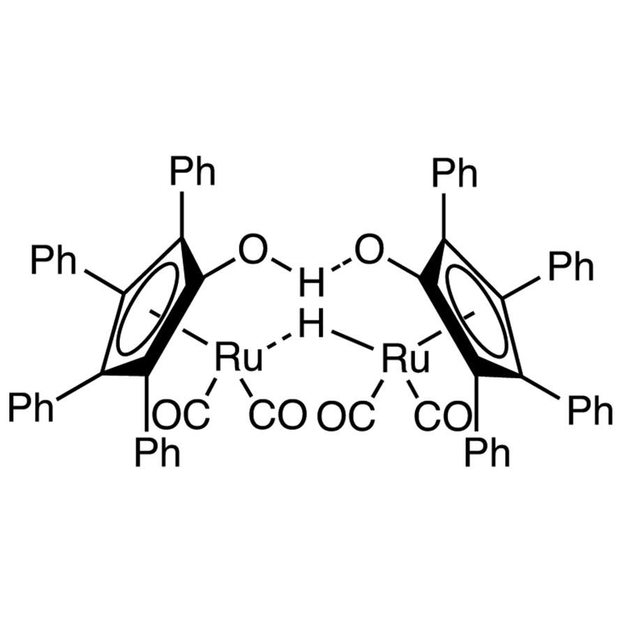 1-Hydroxytetraphenylcylclopentadienyl(tetraphenyl-2,4-cyclopentadien-1-one)-μ-hydrotetracarbonyldiruthenium(II)
