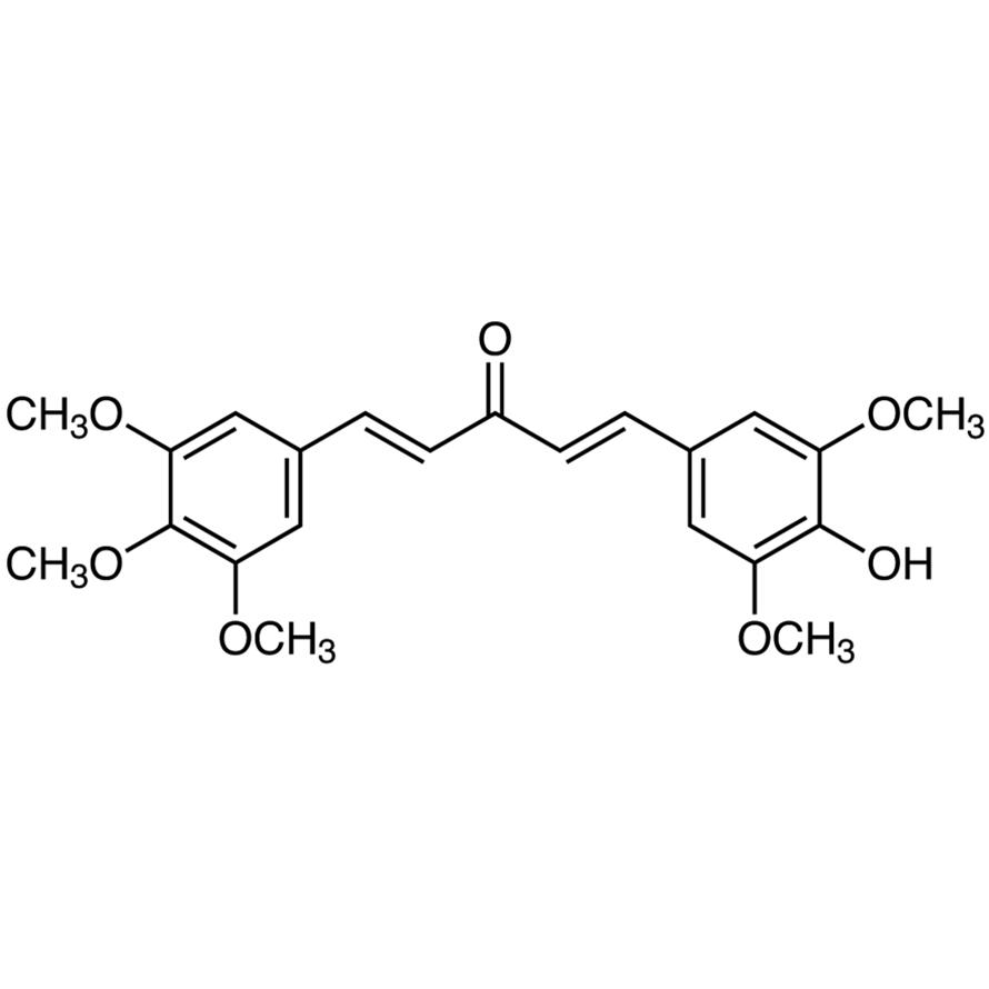 (1E,4E)-1-(4-Hydroxy-3,5-dimethoxyphenyl)-5-(3,4,5-trimethoxyphenyl)-1,4-pentadiene-3-one