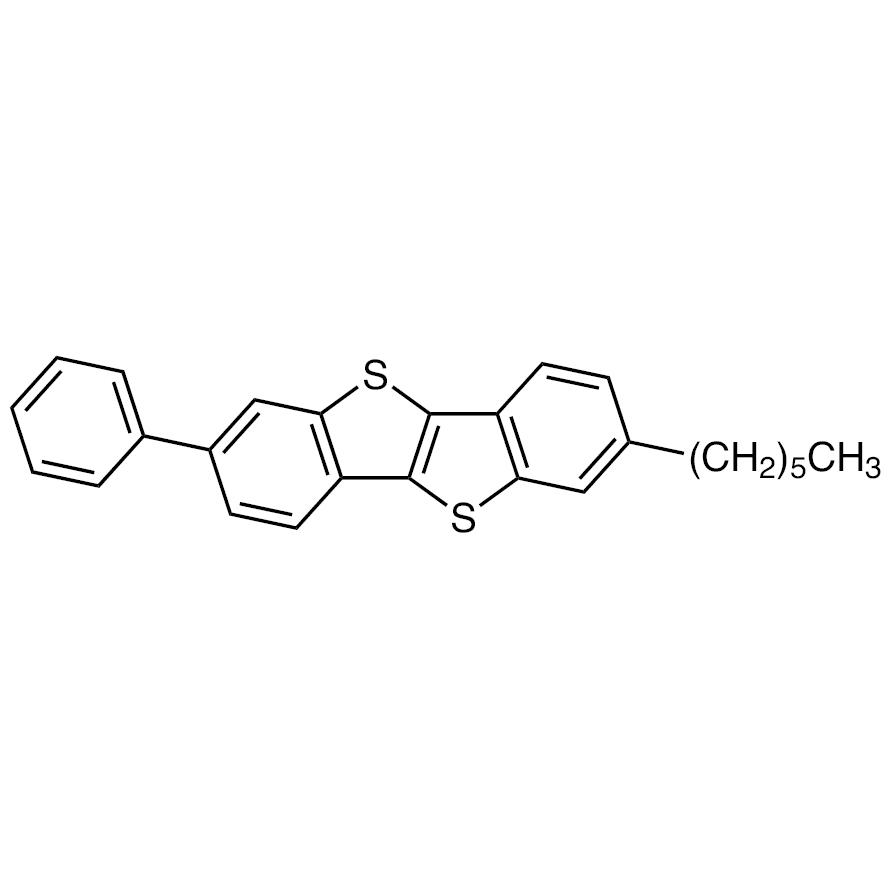 2-Hexyl-7-phenyl[1]benzothieno[3,2-b][1]benzothiophene [for organic electronics]