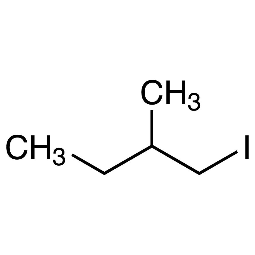 1-Iodo-2-methylbutane (stabilized with Copper chip)