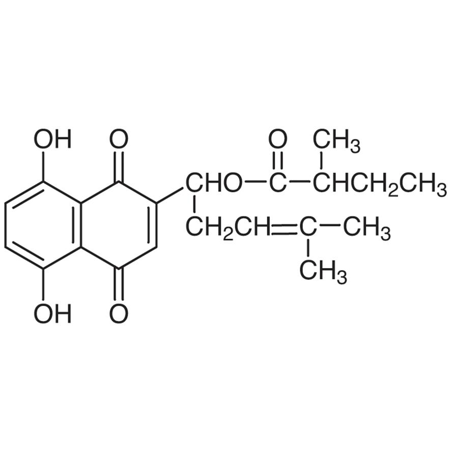 (2-Methylbutyryl)shikonin