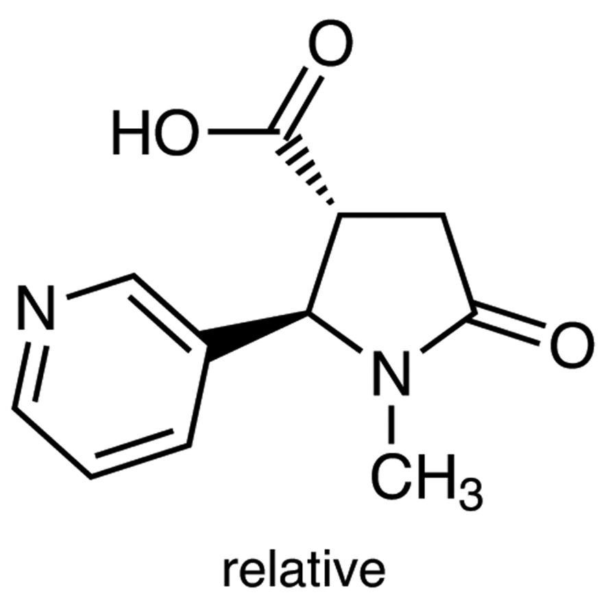 trans-1-Methyl-4-carboxy-5-(3-pyridyl)-2-pyrrolidinone