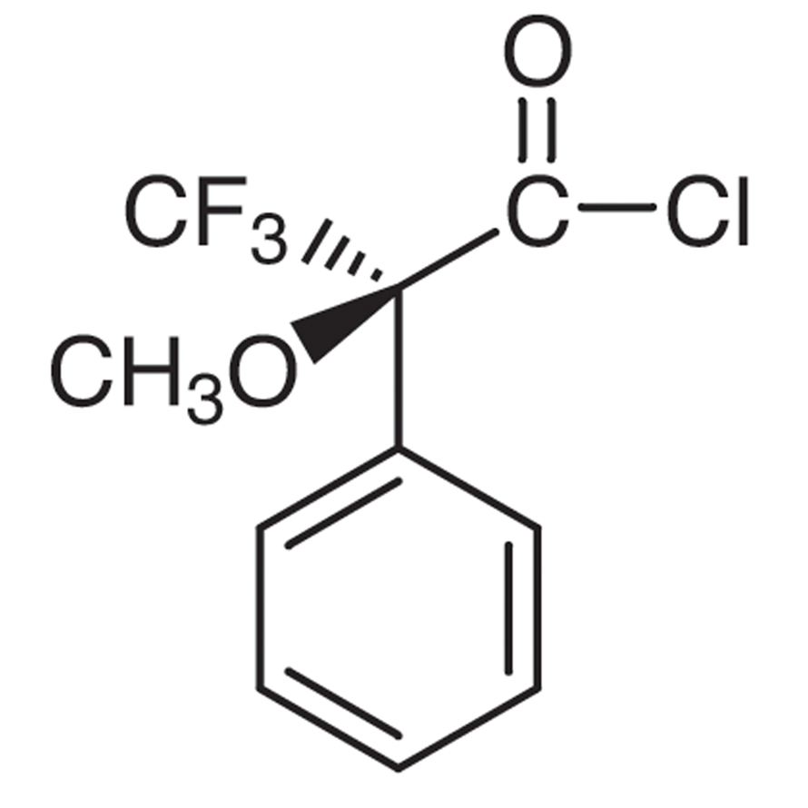 (S)-(+)--Methoxy--(trifluoromethyl)phenylacetyl Chloride [for Determination of the optical purity of Alcohols and Amines]