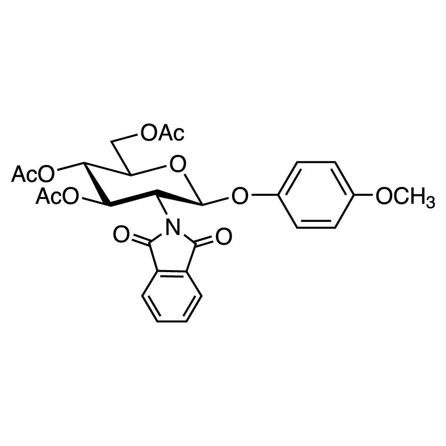 4-Methoxyphenyl 3,4,6-Tri-O-acetyl-2-deoxy-2-phthalimido--D-glucopyranoside