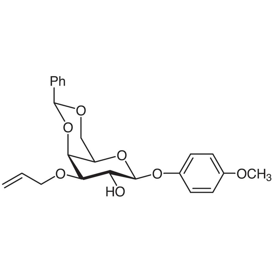 4-Methoxyphenyl 3-O-Allyl-4,6-O-benzylidene--D-galactopyranoside