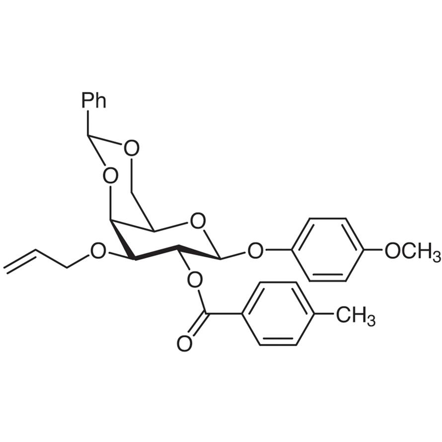 4-Methoxyphenyl 3-O-Allyl-4,6-O-benzylidene-2-O-(4-methylbenzoyl)--D-galactopyranoside