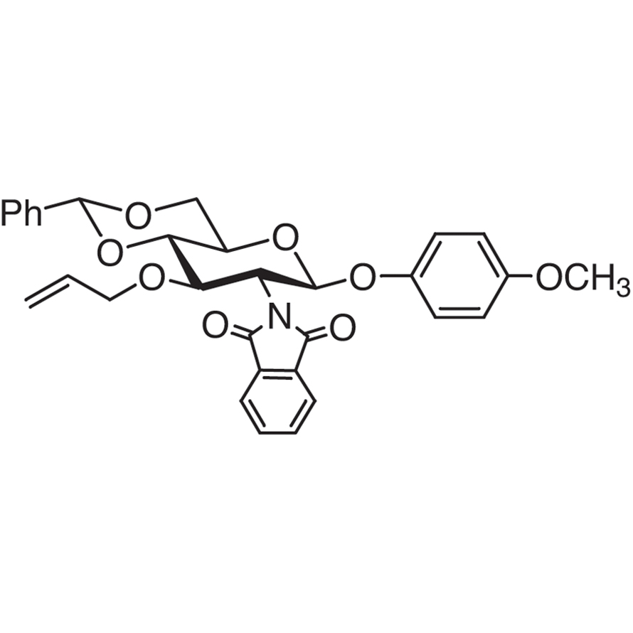 4-Methoxyphenyl 3-O-Allyl-4,6-O-benzylidene-2-deoxy-2-phthalimido--D-glucopyranoside