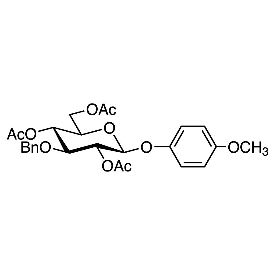 4-Methoxyphenyl 2,4,6-Tri-O-acetyl-3-O-benzyl--D-glucopyranoside
