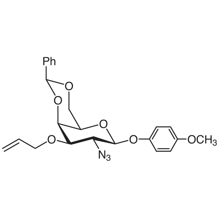 4-Methoxyphenyl 3-O-Allyl-2-azido-4,6-O-benzylidene-2-deoxy--D-galactopyranoside